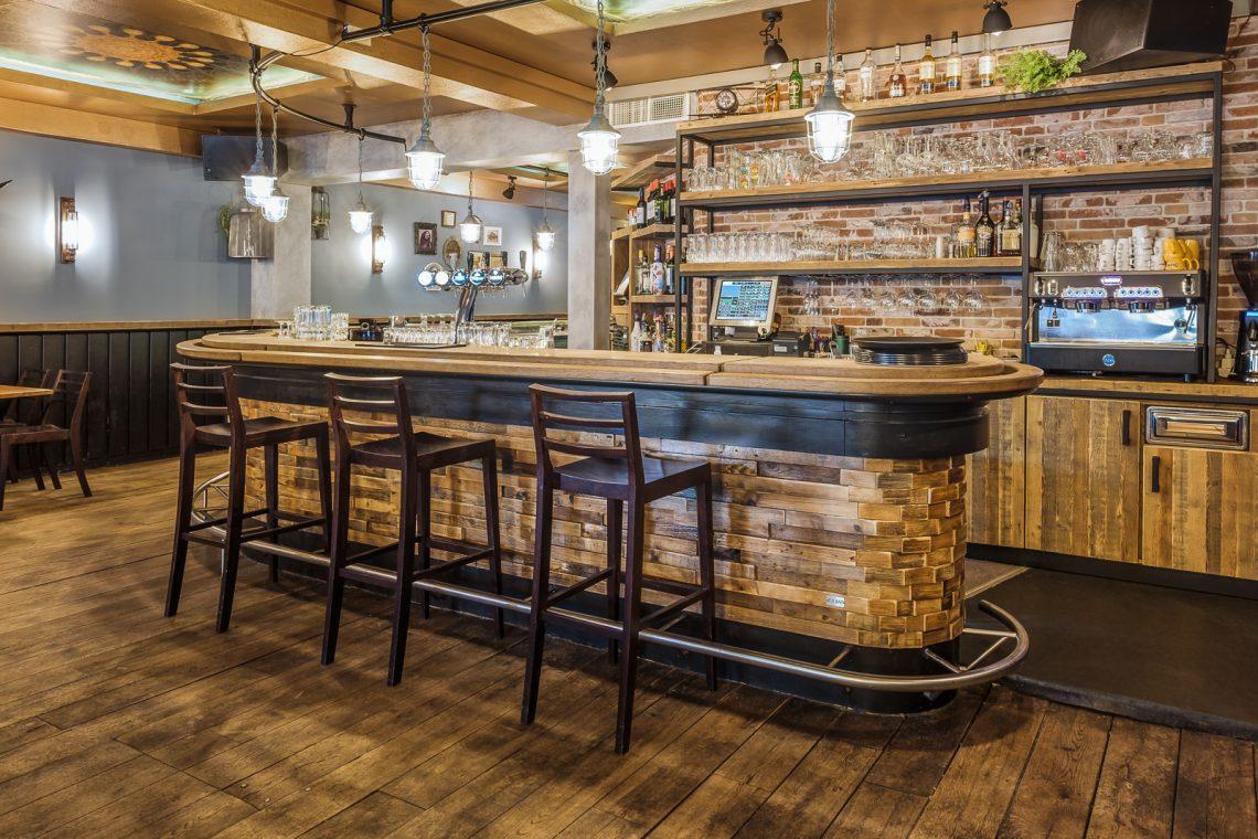 Interieurproject Volte zijaanzicht bar design RUW