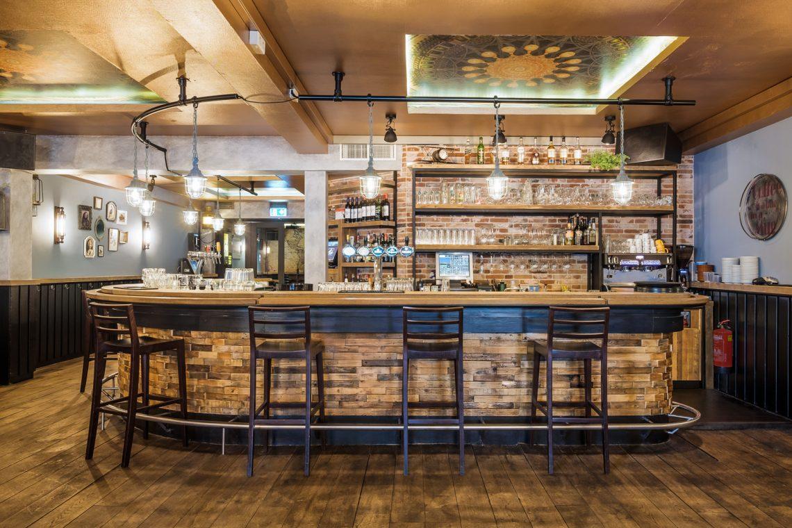 Interieurproject Volte vooraanzicht bar design RUW