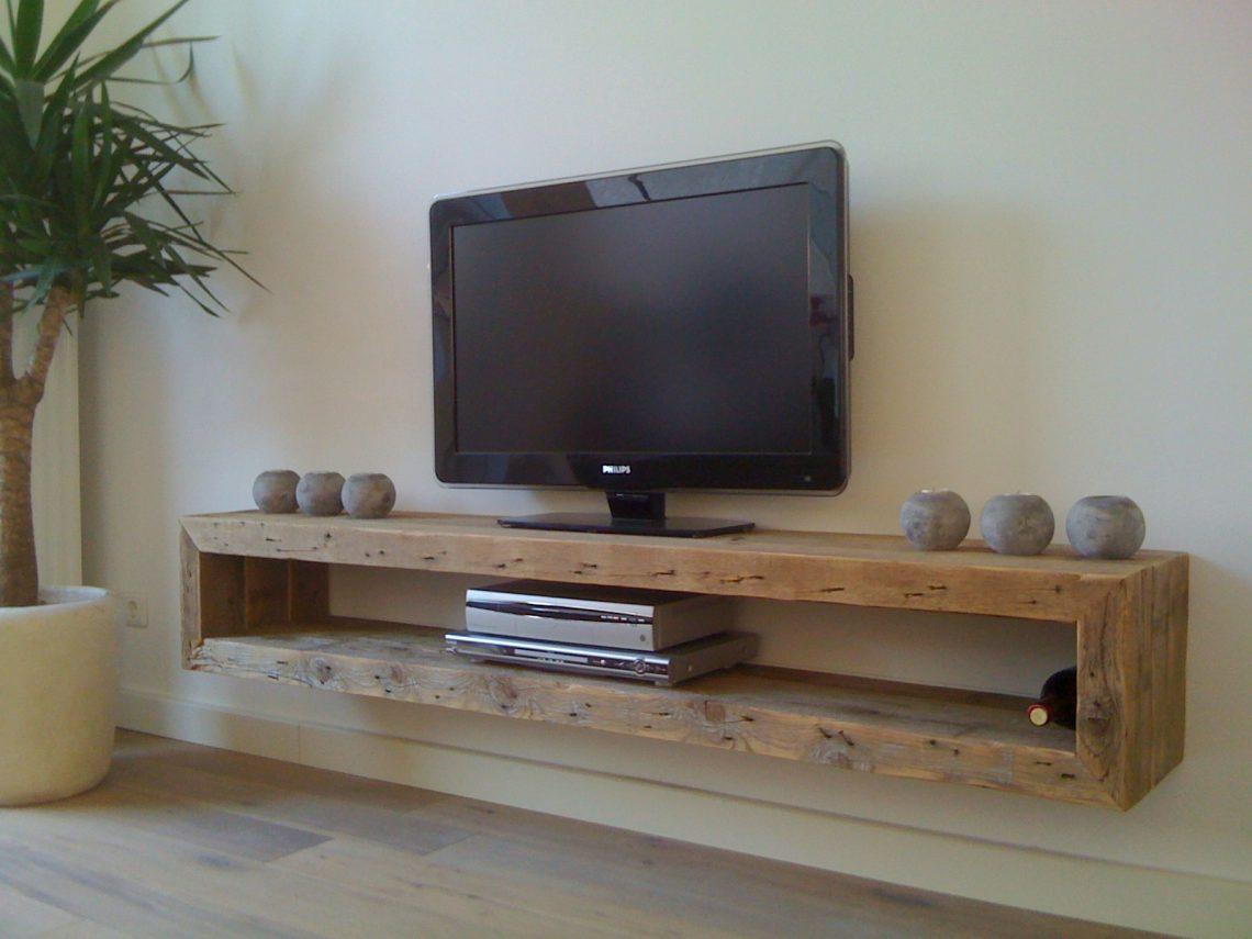 Lage Tv Kast : Wandmeubel rand van ruw meubelen stoer zwevend tv meubel
