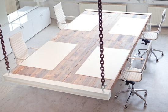 Interieurproject Kragt eiken tafel bureau